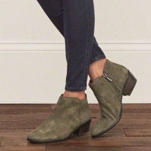 Sam Edelman Shoes - Sam Edelman suede olive green petty ankle boots